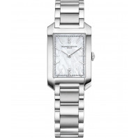 Baume & Mercier - Hampton Lady Quartz 22x34.1mm Mother-of-pearl & 4 diamonds,M0A10474