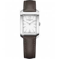 Baume & Mercier - Hampton Lady Quartz 22x34.1mm Opaline Steel & Leatherstrap,M0A10471