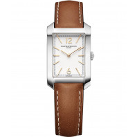 Baume & Mercier - Hampton Lady Quartz 22x34.1mm Opaline Steel & Leatherstrap,M0A10472