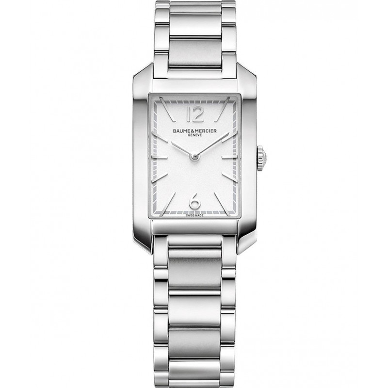 Baume & Mercier - Hampton Lady Quartz 22x34.1mm Opaline & Steel bracelet,M0A10473
