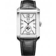 Baume & Mercier - Hampton Gents 31mm x 48mm Opaline Steel & Alligator dualtime ,M0A10523