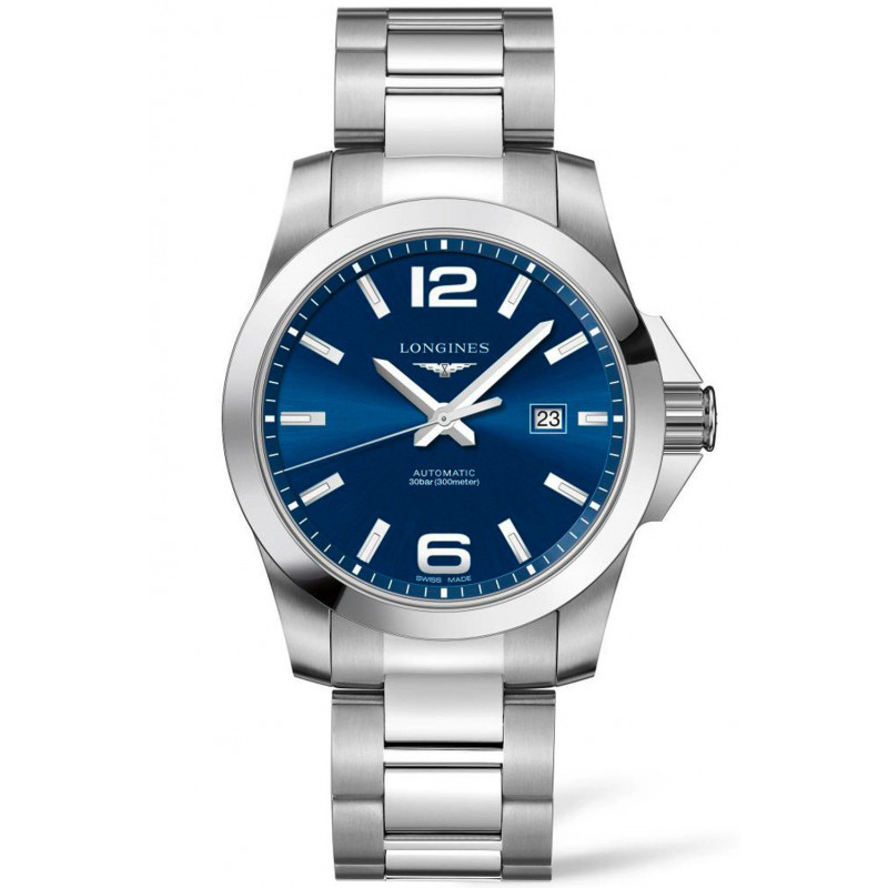 Longines - Conquest 43mm Automatic Blue & Steel,L37784966