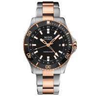 MIDO Ocean Star GMT 44mm Black Steel & Gold,M0266292205100