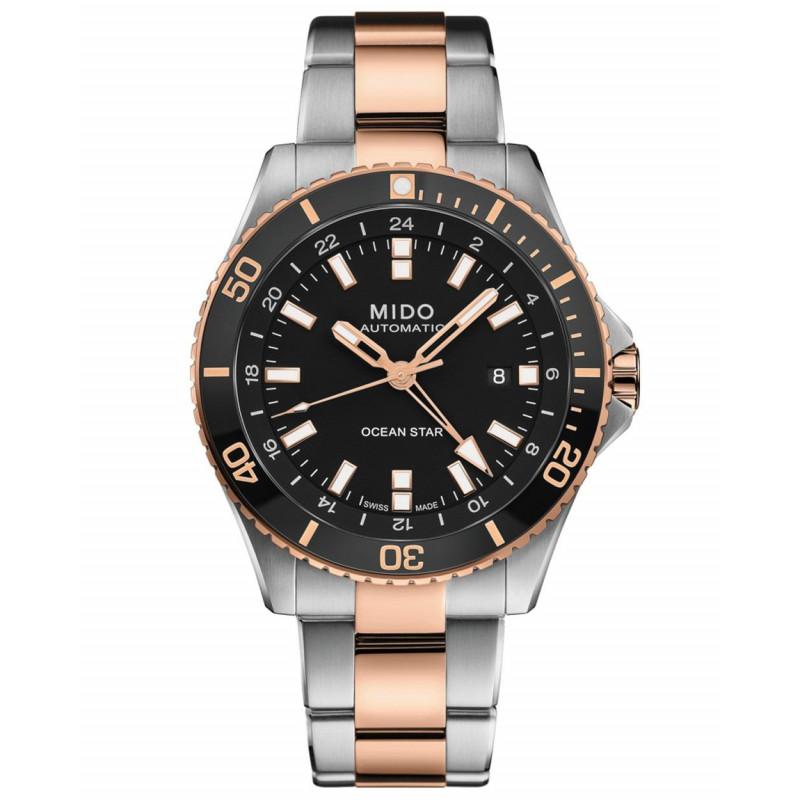 MIDO Ocean Star GMT 44mm Black Steel & Gold,M0266292205100