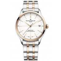 Baume & Mercier Clifton Baumatic White Steel & Rose Gold pvd M0A10458