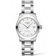 Longines - Conquest Classic 34mm Vit Pärlemor & 11 Diamanter L33774876