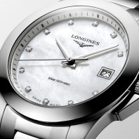 Longines - Conquest Classic 34mm White Mother-of-pearls & 11Diamonds L33774876