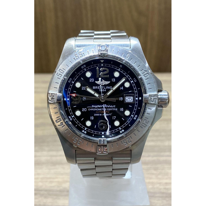 PRE-OWNED Breitling Superocean Fish Black Year 2011 ref. A17390
