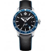 Baume & Mercier Clifton Club Automatic Black & Leather strap Dual time MOA10486