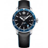 Baume & Mercier Clifton Club Automatic Black & Leather strap Dual time MOA10486