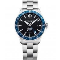 Baume & Mercier Clifton Club Automatic Black & Steel bracelet Dual time MOA10487