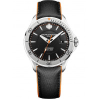 Baume & Mercier Clifton Club Automatic Black & Steel Mens Watch,MOA10338