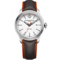 Baume & Mercier Clifton Club Quartz White & Leatherstrap Diver 42mm,M0A10410