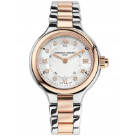 Frederique Constant Horological Smartwatch - 34mm 8 diamonds Steel & Rose gold,FC-281WHD3ER2B