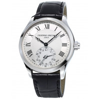 Frederique Constant Horological Smartwatch - 42 mm Steel & Leather strap,FC-285MC5B6