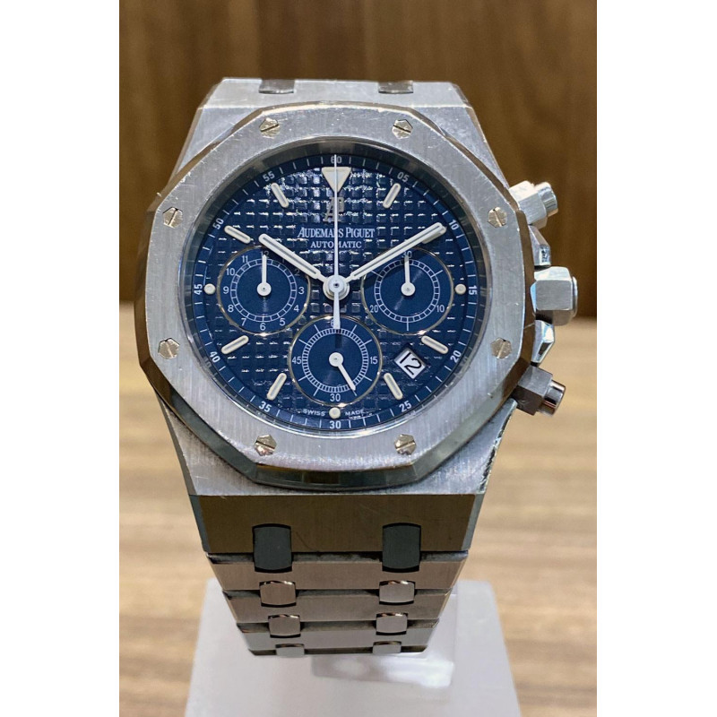 PRE-OWNED Audemars Piguet Royal Oak Chronograph Blue 25860ST.OO.1110ST.04