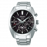 Seiko Astron GPS Solar 43mm Black & Steel-SSH021J1