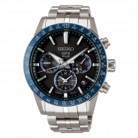 Seiko Astron GPS Solar 43mm Blue & Steel-SSH001J1