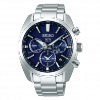 Seiko Astron GPS Solar 43mm Blue & Steel-SSH019J1