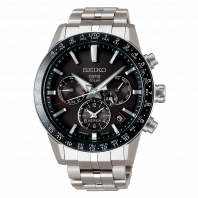 Seiko Astron GPS Solar 43mm Black & Steel,SSH003J1
