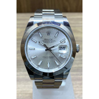 Begagnad Rolex Datejust Silver 126300 År 2019