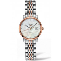Longines - Elegant 29mm Rose guld & 12 Diamanter L43105877