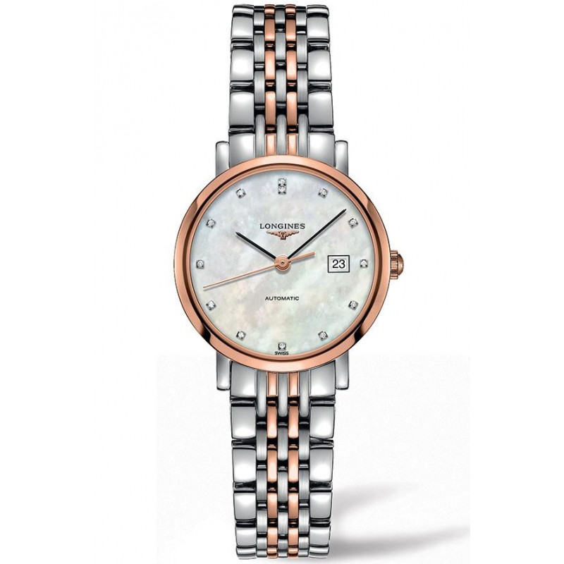 Longines - Elegant 29mm Rose gold & 12 Diamonds L43105877