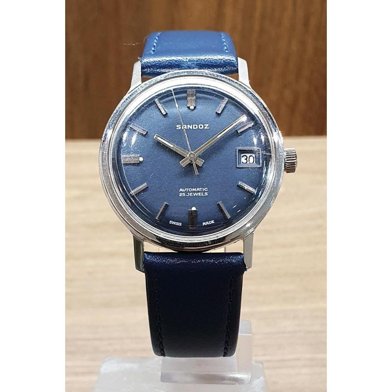 PRE-OWNED Sandoz Incabloc Unisex watch 34 mm