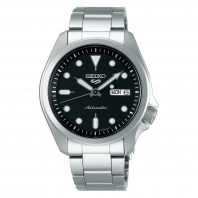 Seiko 5 Sports 40 mm Automatic Black & Steel Bracelet SRPE55K1