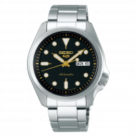 Seiko - 5 Sports Automatic 40 mm Black & Steel Bracelet SRPE57K1