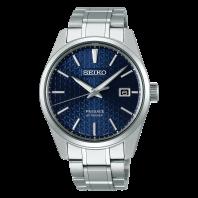 Seiko Presage Premium 39 mm Automatic Blue & Steel Bracelet SPB167J1