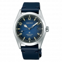 Seiko Prospex 38 mm Automatic Blue & Leather Strap SPB157J1