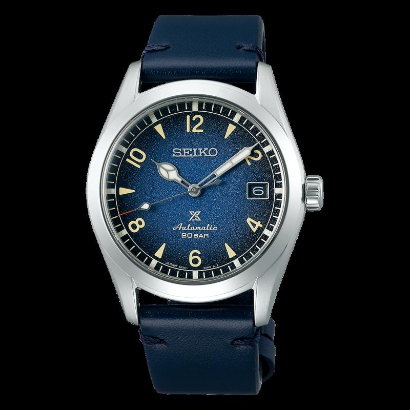 Seiko Prospex 38 mm Automatic Blue & Leather Strap SPB157J1